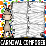 Carnival of the Animals Blank Sheet Music!  Halloween Composing & Coloring Fun!
