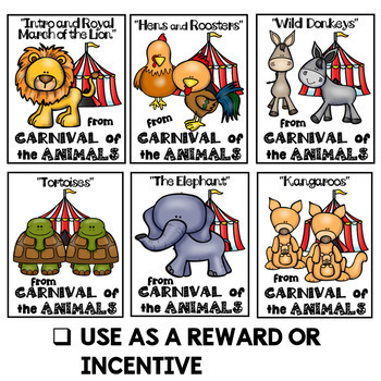 Carnival of the Animals Brag Tags