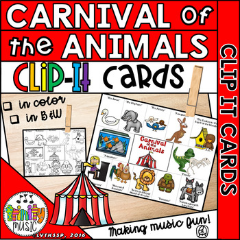 Carnival of the Animals Clip It Cards (FREEBIE)