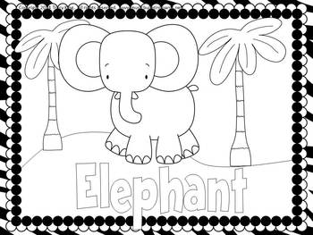 Carnival Of The Animals Coloring Book Or Sheets 3 Sizes