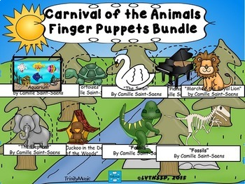 Carnival of the Animals Finger Puppet (BUNDLE)