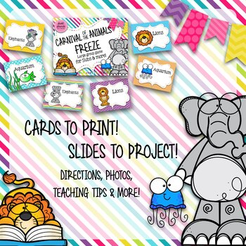 Carnival of the Animals Freeze - Smart Board Game and Printables
