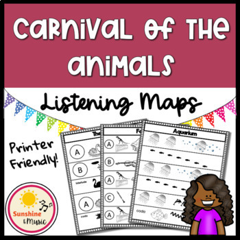 Carnival of the Animals Listening Map Bundle