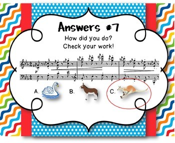 Carnival of the Animals, Saint-Saens - Review Questions with Listening/Music
