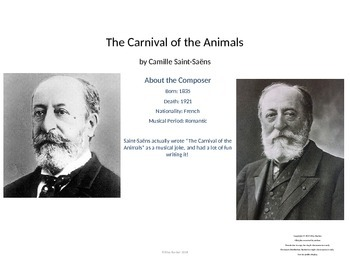 Music Unit: Carnival of the Animals Saint-Saens Unit