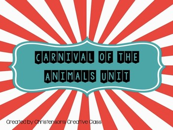 Music Carnival of the Animals Unit Plan