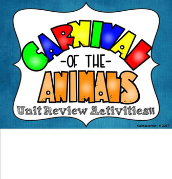 Carnival of the Animals:  Unit Review Activities/Games - SMART NOTEBOOK LESSONS