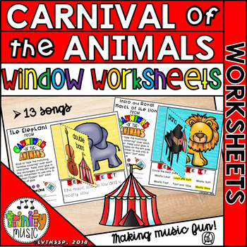 Carnival of the Animals (Window Worksheets)