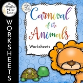 Carnival of the Animals Worksheets - Great for Distance Learning