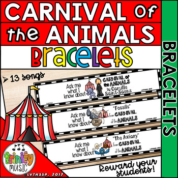 Carnival of the Animals (by Saint-Saens) Bracelets & Wristbands