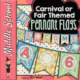 Carnival or Fair Themed Pennant Banners