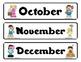 """Carnival"" themed Calendar Set"