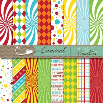 Carnival/Circus Backgrounds/Digital Papers