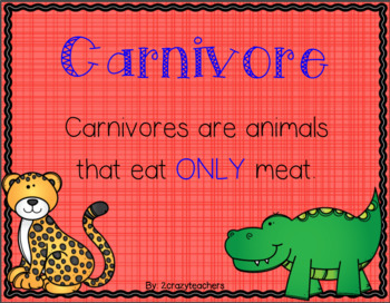 Carnivore, Herbivore, & Omnivore Craftivities and Activities