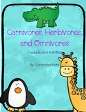 Carnivore, Herbivore, and Omnivore Foldable and Activities