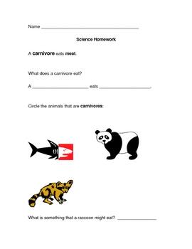 Carnivore Homework