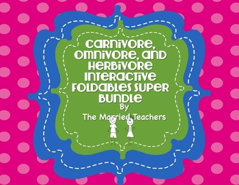 Carnivore, Omnivore, & Herbivore Science Foldables & Activities Super Bundle