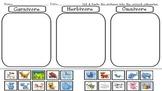 Carnivore, Omnivore, Herbivore sorting Smartboard file
