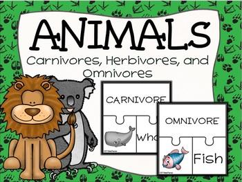 Carnivores, Herbivores, and Omnivores Puzzle