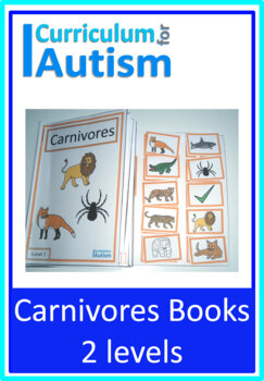 Carnivores Interactive Adapted Biology Books, 2 levels, Autism Special Education