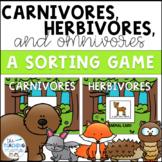 Carnivores, Herbivores, and Omnivores Sort!