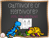 Carnivores and Herbivores Sort, Cut, and Paste