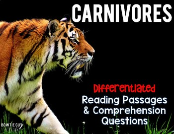 Carnivores in the Food Chain Informational & Nonfiction Text w/ Questions