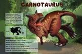 Carnotaurus - Dinosaur Poster & Handout