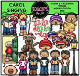 Carol Singing Clip Art Bundle {Educlips Clipart}