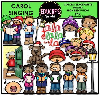 Carol Singing Clip Art Bundle {Educlips Clipart}
