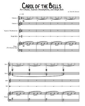 Bell Carol for Ukuleles, Metallophone, and Jingle Bells
