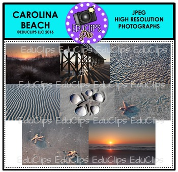 Carolina Beach Photo Set {Educlips}