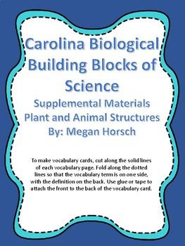 Carolina Biological Grade 4 Plant and Animal Structures, V