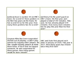 Carolina-Duke Basketball Task Cards