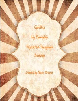 Carolina by Parmalee Figurative Language Activity