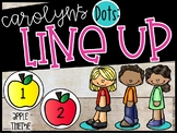 Carolyn's Editable Line Up Dots - Line Up Tool - Line Up Numbers (Apples)