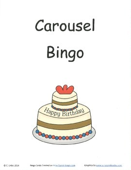 Carousel Bingo Game ~ Language Arts Activity