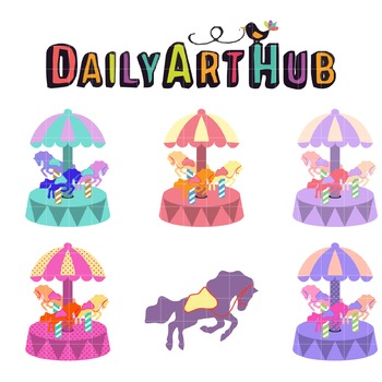 Carousel Clip Art - Great for Art Class Projects!