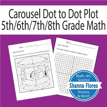 Carousel Dot to Dot, Connect the Dots, Graphing Ordered Pairs, Fun Math