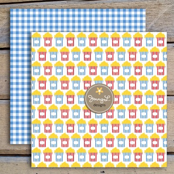 Movie Boy digital paper and clipart