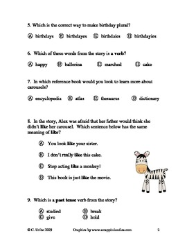 Carousel Language Arts Test/Quiz ~ Houghton Mifflin® ~ 2nd Grade