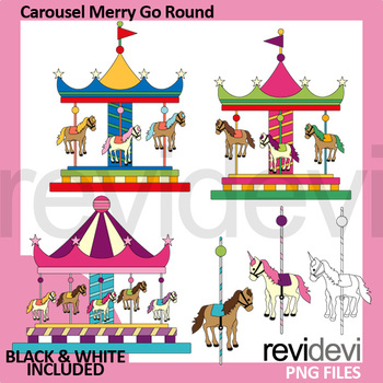 Carousel Merry Go Round Clip Art