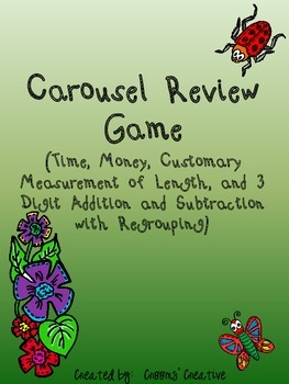 Carousel Review Game to go with Go Math! Florida 2nd Grade Chapters 6-8