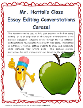 """Carousel Writing """"Converstations"""" Editing Stations"""