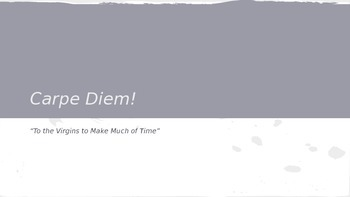 """Carpe Diem Lesson: Pink Floyd's """"Time"""" and Herrick's """"To the Virgins"""""""