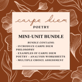 Carpe Diem/Renaissance Poetry Mini Unit! *DIGITAL WORKSHEETS* British Literature