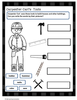 Carpenter Carl's Tools: Word Work