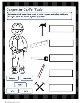 Carpenter Carl's Tools: Word Work