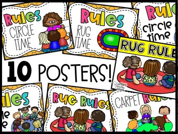 Carpet Rules Posters | Circle Time Rules Posters