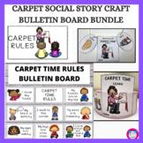 Carpet Rules Social Story and Bulletin Board Bundle